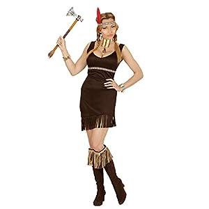 WIDMANN 02841?Adultos Disfraz karnevalstore24?, Vestido y Diadema con Muelle, Negro, Tamaño S