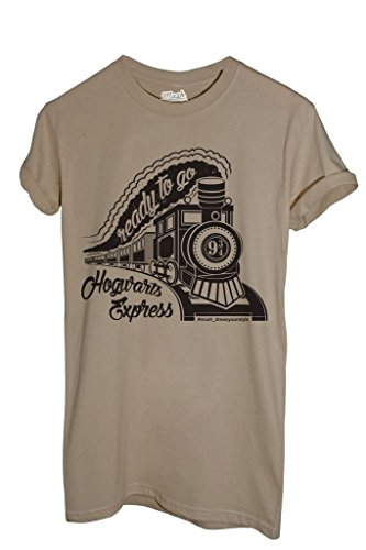 MUSH T-Shirt Hogwarts Express - Harry Potter - Film by Dress Your Style - Herren-M-Beige