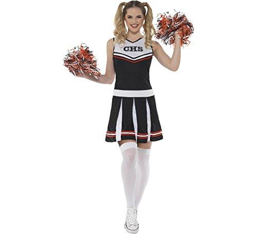 Womens Kostüm Cheerleader - LADIES CHEERLEADER COSTUME - BLACK - LARGE