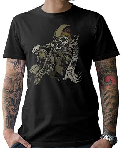 NG articlezz Herren T-Shirt Biker Oldschool Tattoo Cruiser Motorrad Motorcycle Shirt