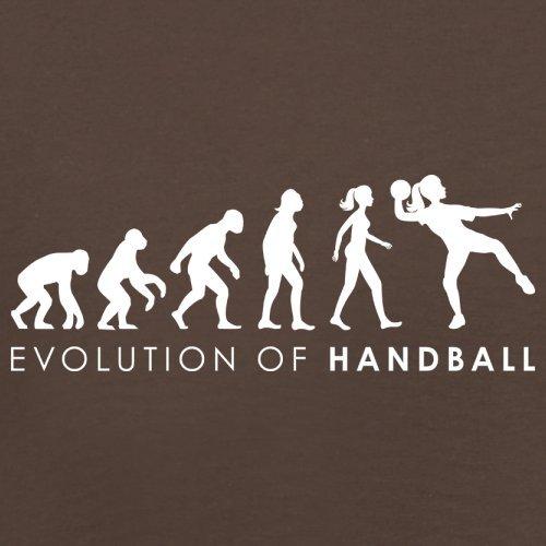 Evolution of Woman - Handball - Herren T-Shirt - 13 Farben Schokobraun