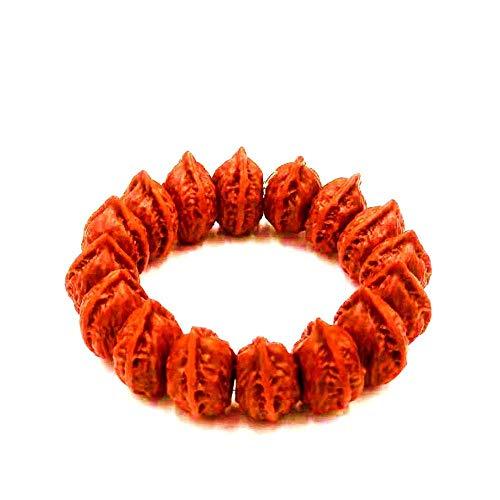 FHIKLW bracelet Armband,Wild Geschnittene Pekannuss-Armbänder Bürsten, Um Das Patinierte Nussbaum-Armband Zu Reinigen -
