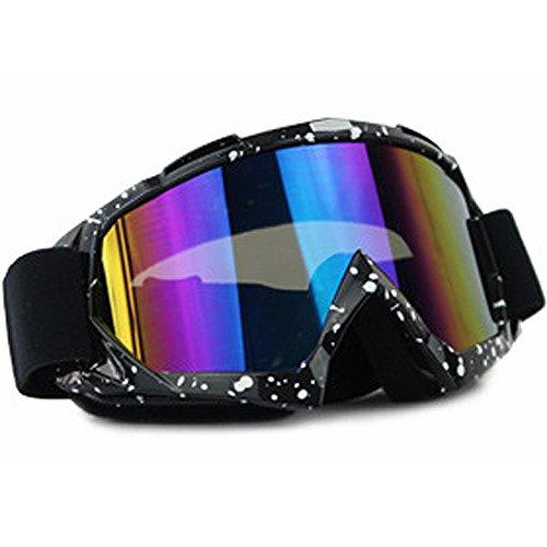 MyArmor Occhiali da moto occhiali rimovibile harley-style Proteggere Imbottitura Protezione UV Occhiali da sci Occhiali da