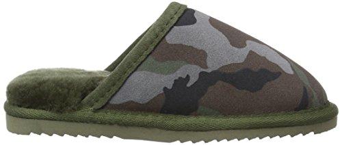 Warmbat Jungen Classic Print Pantoffeln Mehrfarbig (45 Camo Dark Navy)