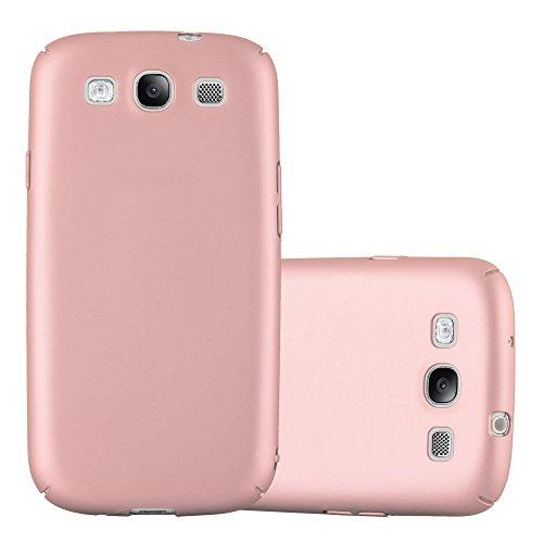 Cadorabo Hülle für Samsung Galaxy S3 / S3 NEO - Hülle in Metall Rose Gold – Hardcase Handyhülle im Matt Metal Design - Schutzhülle Bumper Back Case Cover