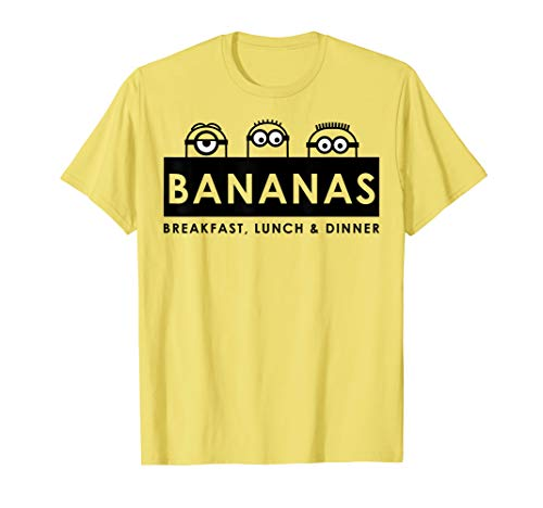 Despicable Me Bananas Breakfast Lunch & Dinner Banner T-Shirt