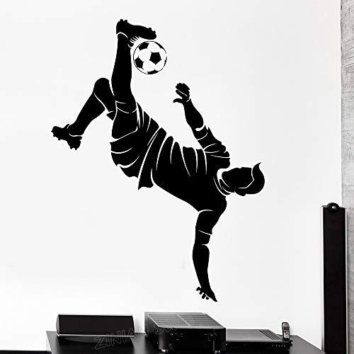 guijiumai Sport Fußball Fußball Spieler Silhouette Vinyl Wandtattoos Aufkleber Für Jungen Schlafzimmer Dekoration Wandtattoo Poster rot 42x56 cm -