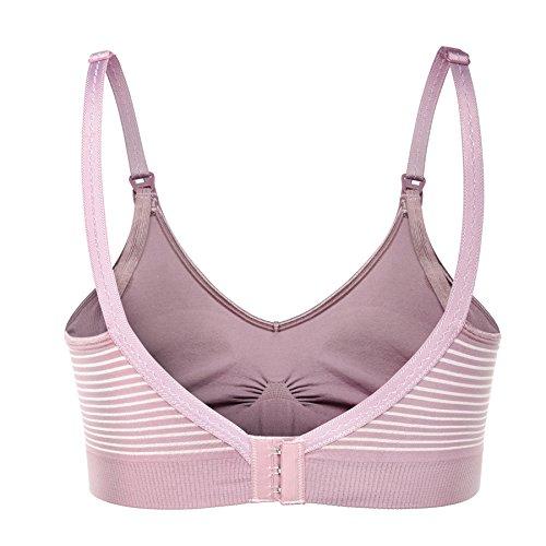 BAOMOSI - Soutien-gorge spécial grossesse - Femme Purple-White