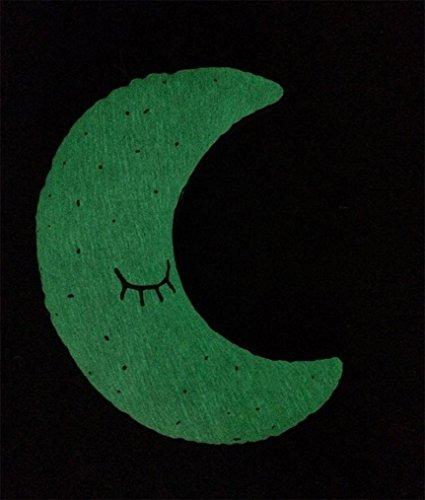 Xshuai Stilvolles design Luminous Moon Nacht Sterne Birne Eule Kissen Kissen Tröster Dekorative Kissen (B) (Tröster Set London)