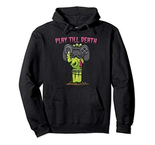 Play Till Death Zombie Gamer Halloween Kostüm Geschenk Pullover - Zombie Gamer Kostüm