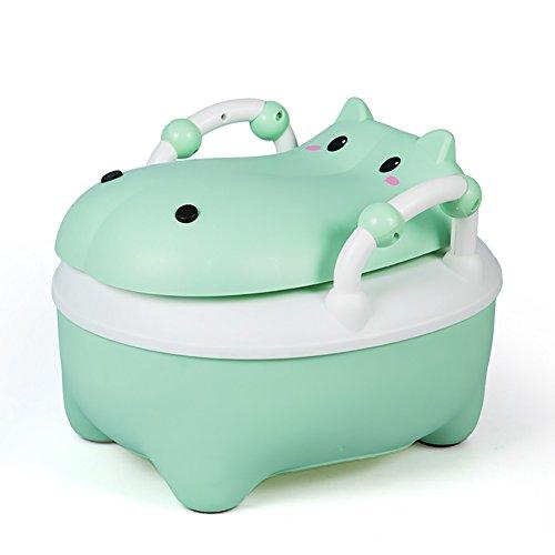 Toilettes Pour Enfants Femelle Bébé Toilettes Toilettes Tabouret Tiroir Pour Nourrissons Urinoir Mâle Enfant Pot (Couleur : Green)