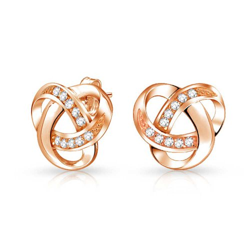 bling-bijoux-argent-925-plaque-or-cz-love-knot-stud-earrings