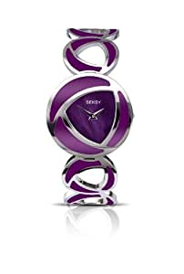 Seksy Wrist Wear by Sekonda Women's Quartz Watch with Mother of Pearl Dial Analogue Display and Purple Stainless Steel Bracelet 4533.37