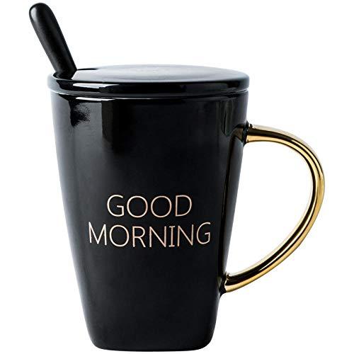 JJLEzlAM Tazas De Café Tazas De Desayuno Tazas De Té Taza De Cerámica Carta Regalo De Copa A Taza con Mano Regalo Taza para Beber Caja De Regalo Caja De Regalo Taza con Tapa Cuchara @ A