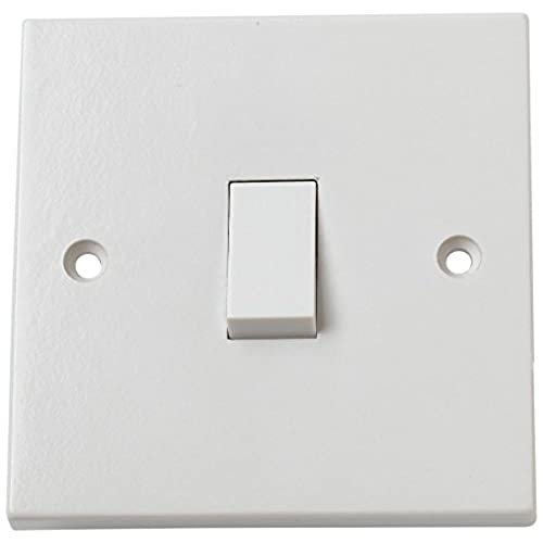 Wall light switch amazon bulk hardware bh02606 rocker 10amp single electric wall switch 1 gang 1 way white aloadofball Choice Image