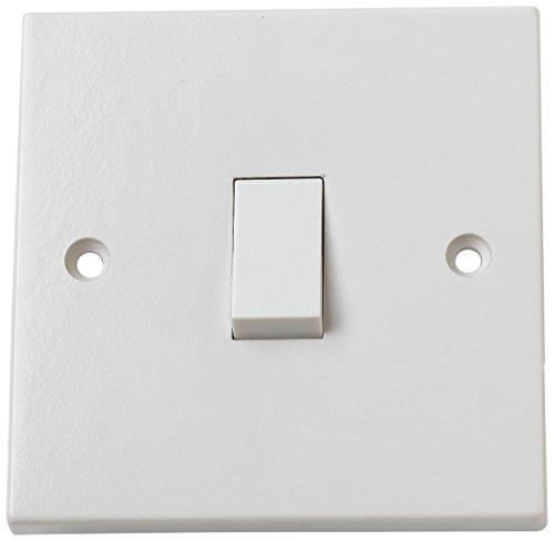 Ab 2-wege-schalter Box (Bulk Hardware BH02606 Kipp-Wandschalter 1-fach 1-Weg, Weiß)