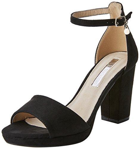 XTI 30686, Zapatos con Tacon y Correa de Tobillo para Mujer, Negro (Black), 39 EU