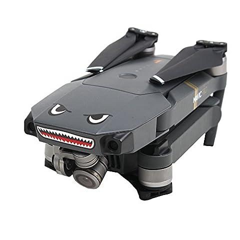 Ularma Requin décoration Imperméable à l'eau Decal Peau Autocollant pour DJI Mavic Pro RC Drone (noir)