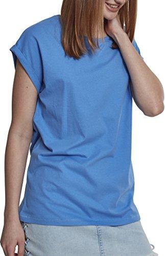 Urban Classics Damen T-Shirt Ladies Extended Shoulder Tee, Farbe horizonblue, Größe XL