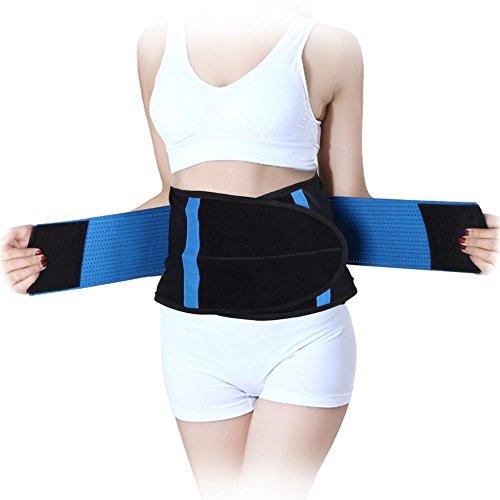 Fascia elastica traspirante sostegno lombare fitness supporto schiena regolabile per uso quotidiano per unisex (xxl)