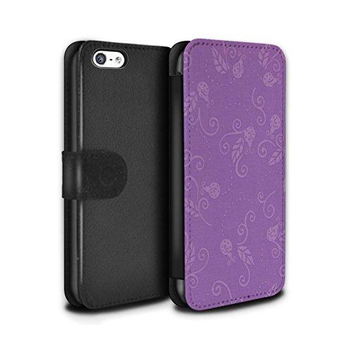 Stuff4 Coque/Etui/Housse Cuir PU Case/Cover pour Apple iPhone 5C / Pack (9 pcs) Design / Motif Coccinelle Collection Pourpre