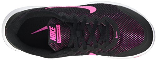 Nike Flex Experience Rn 4, Chaussures de Running Compétition Femme Noir (Black/Pink Foil/White)