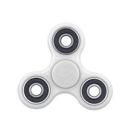 HuntGold Mano Spinner Tri Fuguillas de bolas Juguete de escritorio EDC embutidora de la media para niños / adultos -- Blanco