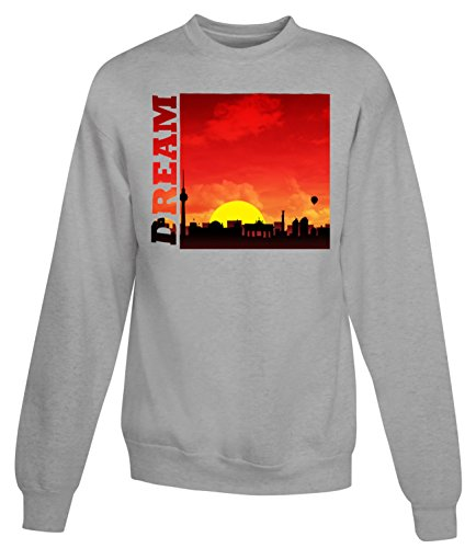 Billion Group | Skyline Dreams | City Collection | Women's Unisex Sweatshirt Gris