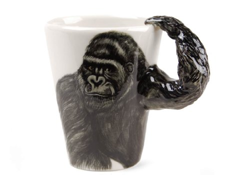 Gorilla Geschenke, Kaffeetasse Handgefertigt von Blue Witch