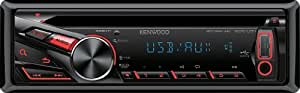 Kenwood KDC-U31R CD/MP3-Tuner (AUX-IN, USB 2.0, rote Tastenbelechtung)