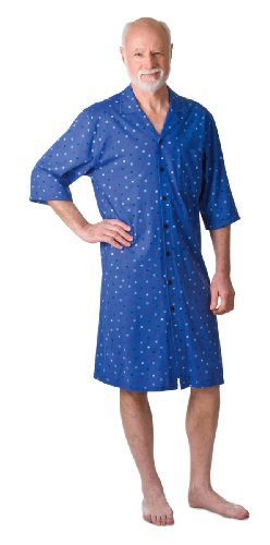 Ringella Care Herren Pflegehemd 3/4 Arm blau XL C141001 Peter, blau, XL