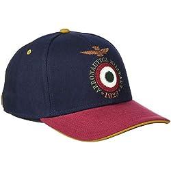 Aeronautica Militare Cappellino, Gorra de béisbol para Hombre, (BLU/Rosso 90494), Talla única