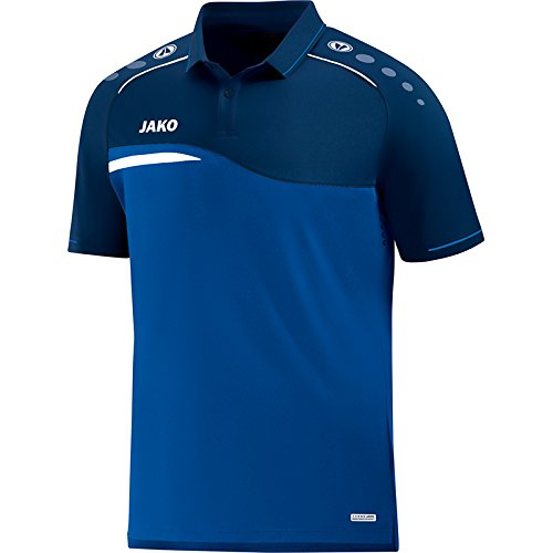 JAKO Herren Polo Competition 2.0, royal/Marine, L