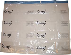 H & L Russel Vacuum Storage Bags with Gussets, Set of 2, 100 x 80 x 32 cm