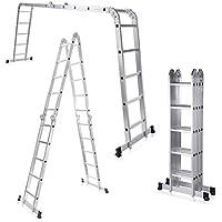MAXCRAFT Escalera multifunción 6 en 1 de aluminio (5,92 m)