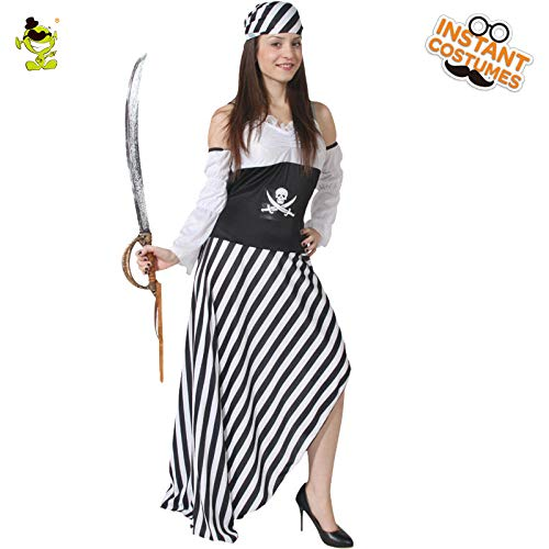 GAOGUAIG AA Adult Wench Pirate Renaissance Kostüm Kostüm Outfit Kostüme SD (Color : Onecolor, Size : (Pirate Wench Kostüm Plus)