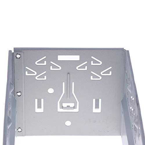 Yozhanhua - Kit de instalación de Jaula de Doble DIN Universal para Radio de Coche, Marco de Montaje Doble para Reproductor de DVD de Coche