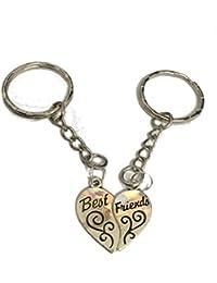 a5e1c52144e0 STRASS   PAILLETTES Double Portes clés Best Friend. Coeur séparé ...