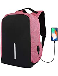 Speeqo Black and Pink Anti Theft Laptop Backpack Bag for Men with USB  Charging Port 893953078c3
