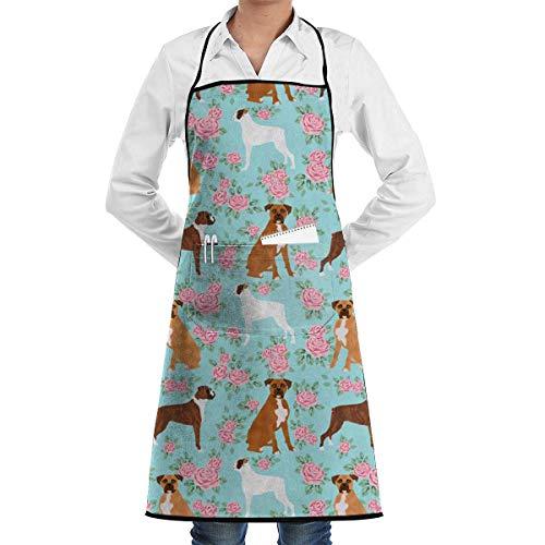 Qiaoji Schürze für Boxer mit Lockscreen und Lockscreen für Hunde, verstellbare Schürze, Tasche, extra lange Bänder, für Männer und Frauen, Küchenschürze, Kochen, Backen, Basteln, Gartenarbeit, Grillen (Bulk Pack Herren-boxer)