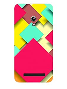 Asus Zenfone 5 Back Cover - Abstract Squares - Pattern - Designer Printed Hard Shell Case