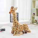 CGDZ Plüschtier Riesige Real Life Giraffe Plüschtiere Nette Stofftier Puppen Weiche Simulation Giraffe Puppe Hohe Qualität Geburtstagsgeschenk Kinder Spielzeug 80 cm