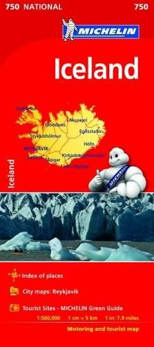 Mapa Iceland (Mapa Nacional ISLANDIA MICHELIN) (Mapas National Michelin) por MICHELIN