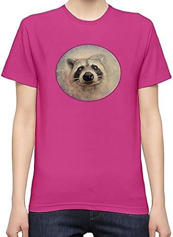 Cute Raccoon Face T-Shirt Femme XX-Large