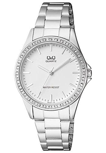 Q&Q Analog Diamond Rim White Dial Watch For Women-Q985J201Y image