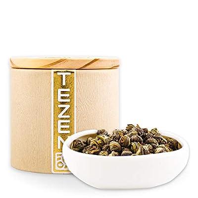 Perles de Jasmin grade impérial : Thé vert au jasmin de Chine | Thé vert chinois premium avec des fleurs de jasmin séchées