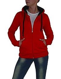 S&LU Tolle Damen Sweat-Jacke in angesagten Uni-Farben in verschiedenen Größen