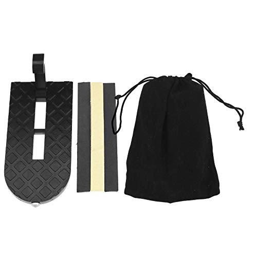 ENET Set für Fahrzeuge, Befestigung an Türschwelle, zum Aufhängen, Schwarz, U-Form, Sicherheitsschnappe, mit 3 Bändern und Samtbeutel