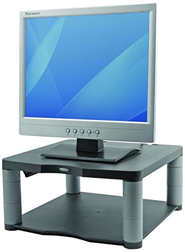 Fellowes Premium Adjustable Monitor Riser - Graphite