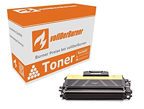 vollDerBurner XXL Toner für Brother TN-2010 / TN2010 5.200 Seiten (100% mehr) Schwarz DCP-7055 HL-2130 HL-213*